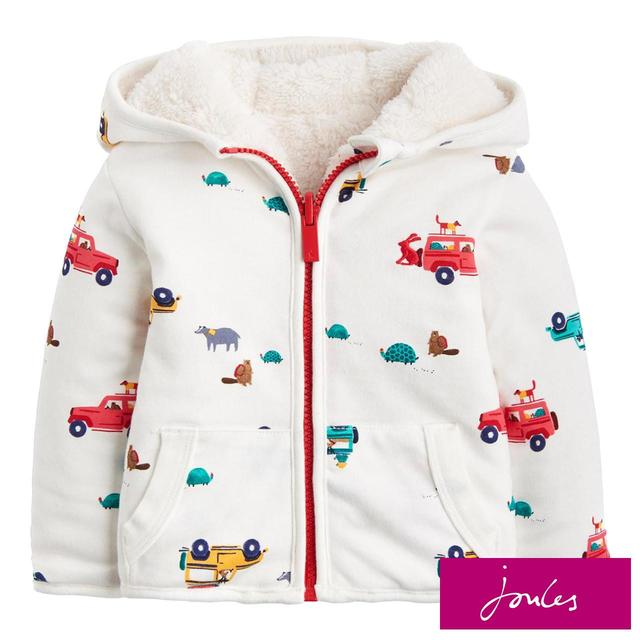 Joules Reversible Zip Up Jacket, 3-24 Months