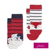 Joules Fox Character Socks 2 Pack, 0-36 Months