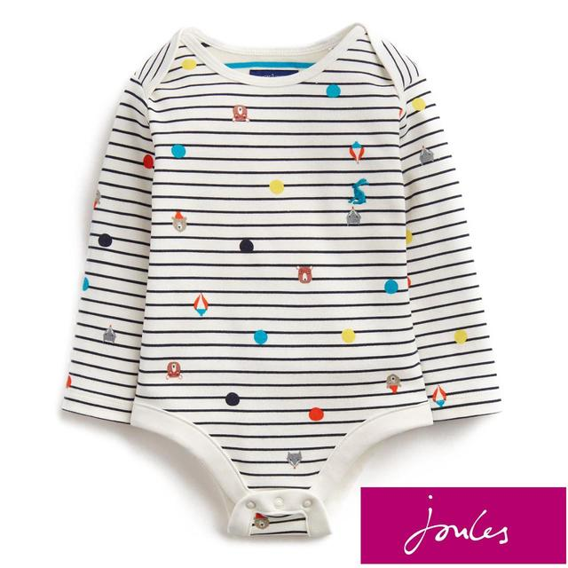 Joules French Navy Animals Bodysuit