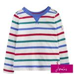 Joules Long Sleeve Multi Stripe Top, 1-6 Years