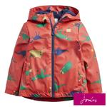 Joules Red Dinosaur Waterproof Jacket, 2-6 Years
