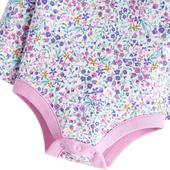 Joules Acorn Ditsy Long Sleeve Bodysuit, 0-24 Months