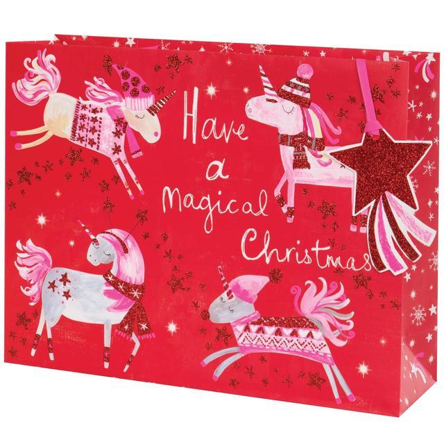 unicorn christmas gift bag large