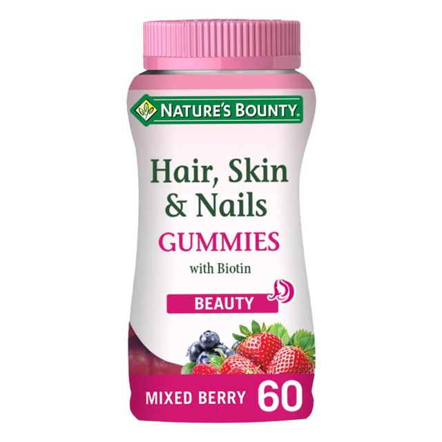Nature S Bounty Hair Skin And Nails Gummies With Biotin 60