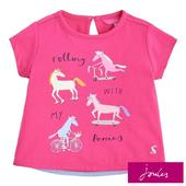 Joules True Pink Pony Short Sleeve T-Shirt, 1- 6 Years