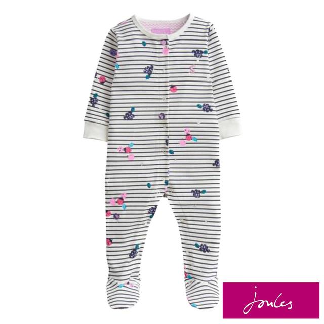 Joules Berry Stripe Sleepsuit