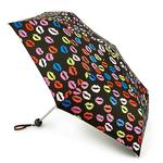 Lulu Guinness Minilite Blot Lips Umbrella