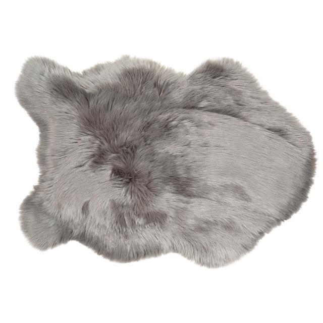 4d6024806 Malini Faux Sheepskin Rug Grey | Ocado