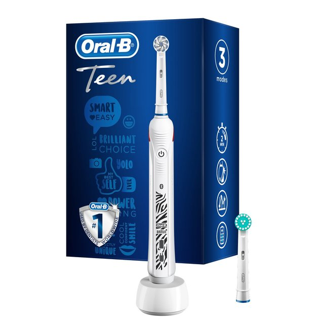 Oral-B Power Handle Teen Electric Toothbrush, White