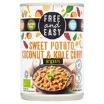 Free & Easy Free From & Organic Sweet Potato Coconut & Kale Curry