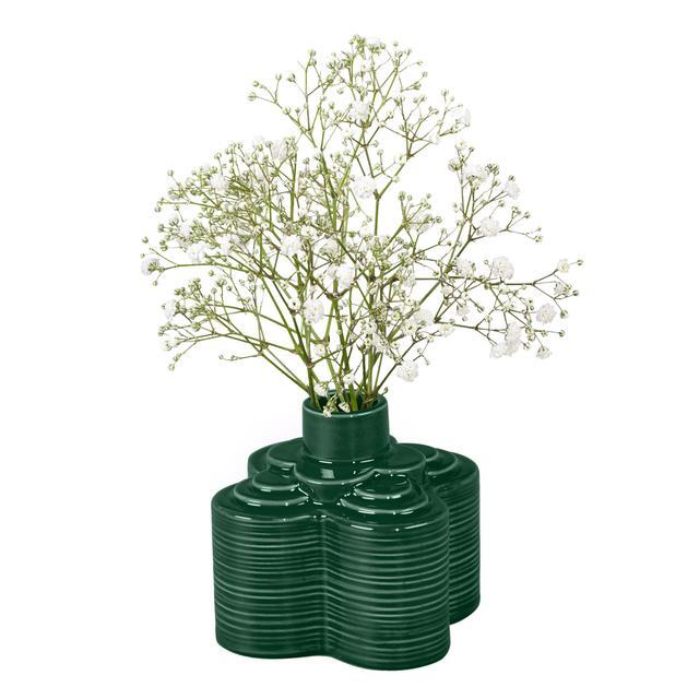 Orla Kiely Stem Vase Striped Petal Jade From Ocado