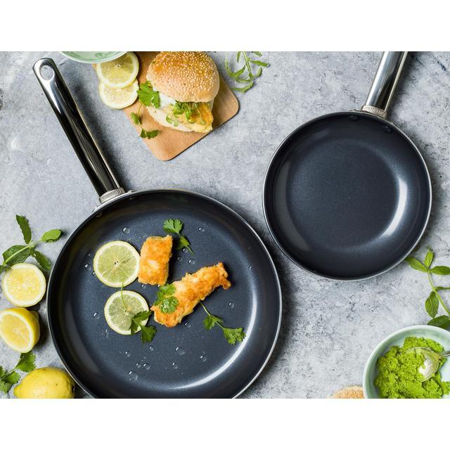 Greenpan Bonn Black Frying Pans 2 Per Pack From Ocado