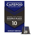 CafePod Double Black Nespresso Compatible Coffee Capsules
