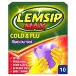 Lemsip Max Cold & Flu Sachet, Blackcurrant