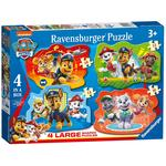 Paw Patrol 4 Large Shaped Jigsaw Puzzles