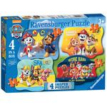 Paw Patrol 4 Shaped Jigsaw Puzzles