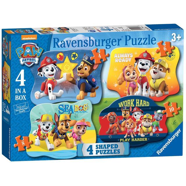Paw Patrol 4 Shaped Jigsaw Puzzles | Ocado