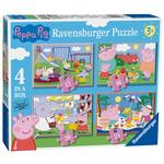 Peppa Pig 4 in a Box Jigsaw Puzzles