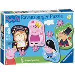 Peppa Pig 4 Shaped Jigsaw Puzzles