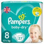 Pampers Baby-Dry Size 8, 27 Nappies