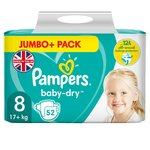 Pampers Baby Dry Taped Size 8 Jumbo+ Pack