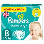 Pampers Baby-Dry Monthly Pack Size 8