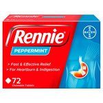 Rennie Peppermint Heartburn & Indigestion Relief Tablets