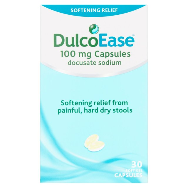 DulcoEase Stool Softener 30 Per Pack From Ocado