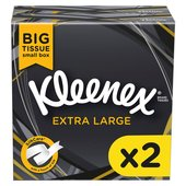 Kleenex Mansize Compact White Tissues Twin Pack