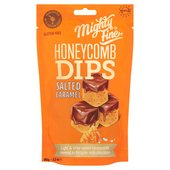 Mighty Fine Salted Caramel Chocolate Honeycomb Dips