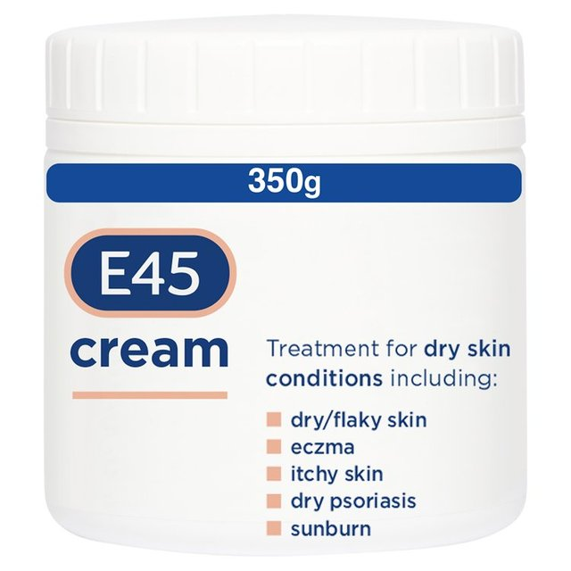 E45 Dermatological Cream, 350g (BULK PACK OF 6 x 350g Pots) by EE Cetaphil Daily Facial Cleanser Normal to Oily Skin, 16 oz (Pack of 6)