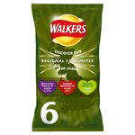 Walkers Regional Favourites Worcester Sauce Tomato Ketchup Pickled Onion