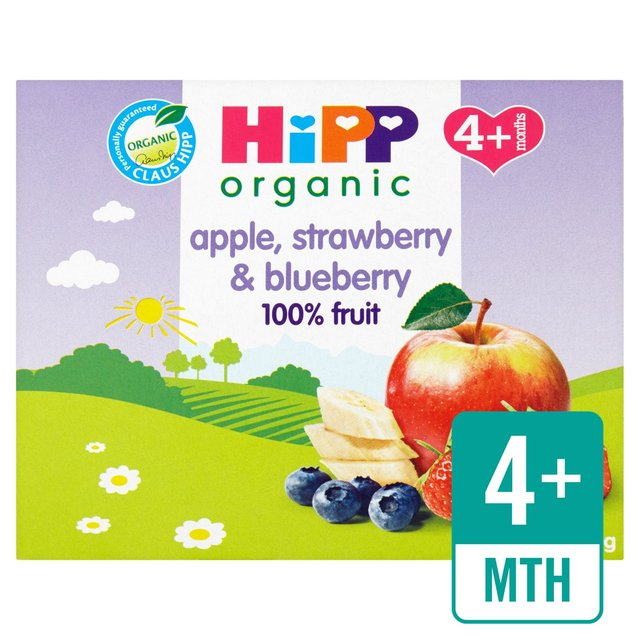 HiPP Organic Purely Fruits Apple, Strawberry & Blueberry