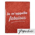 Paperchase Je Mappelle Notebook, Red