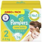 Pampers Premium Protection Size 2, 68 Nappies