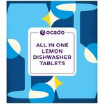 Ocado All in One Dishwasher Tablets Lemon