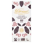 Divine Organic 85% Dark with Cocoa Nibs