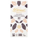 Divine Organic 85% Dark with Turmeric & Ginger