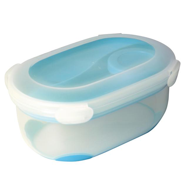 Addis Clip & Go Lunch Salad Box with Tray, Spork & Dressing pot, Blue