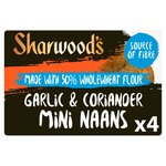 Sharwood's 50% Wholewheat Garlic & Coriander Naans