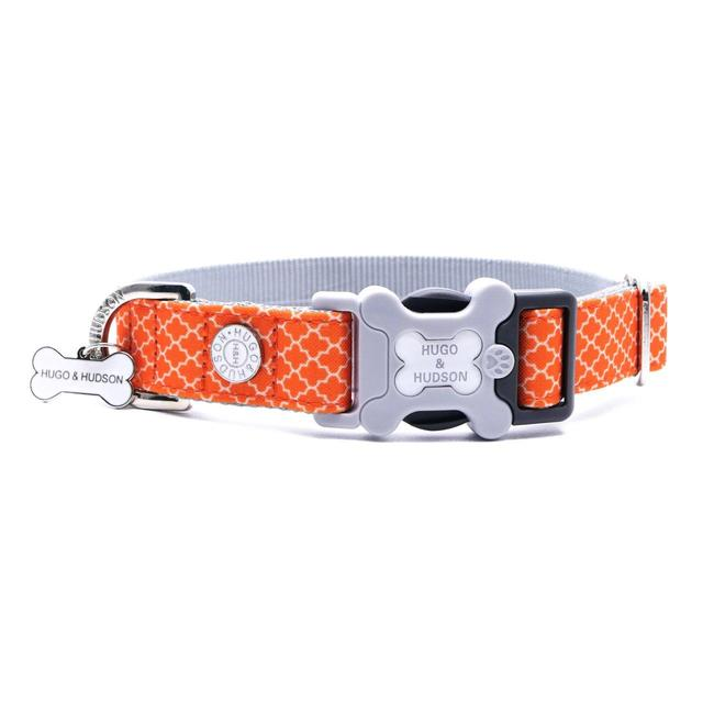 Hugo & Hudson Orange Geometric Dog Collar Medium | Ocado