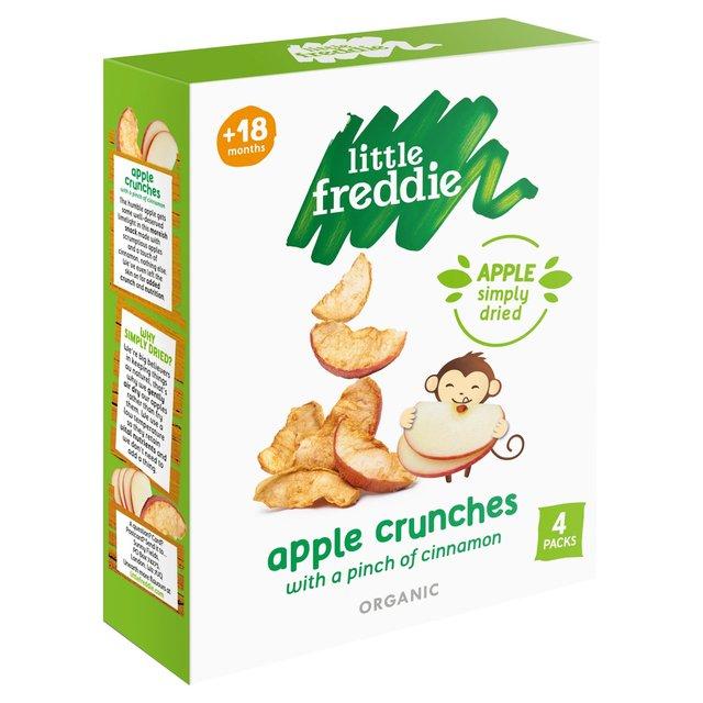 5d32e49324d Little Freddie Organic Apple Crunches with Cinnamon 4 x 10g