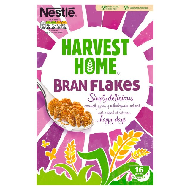 nestle cereal harvest home bran flakes 500g from ocado