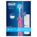 Oral-B Pro 2500 3D White Electric Toothbrush With Case, Pink