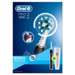 Oral-B Pro 2500 Crossaction Electric Toothbrush With Case, Black