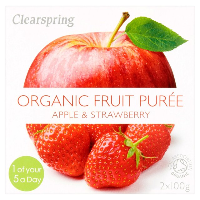 Clearspring Organic Apple & Strawberry Puree