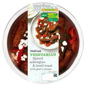 Waitrose Vegetarian Spiced Aubergine & Lentil Roast with Goats Cheese