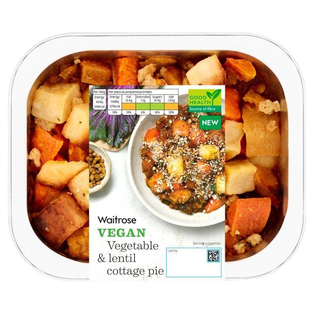 Waitrose Vegan Vegetable And Lentil Cottage Pie Ocado