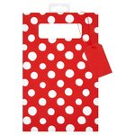 Waitrose Gift DVD Bag Red & White Spot