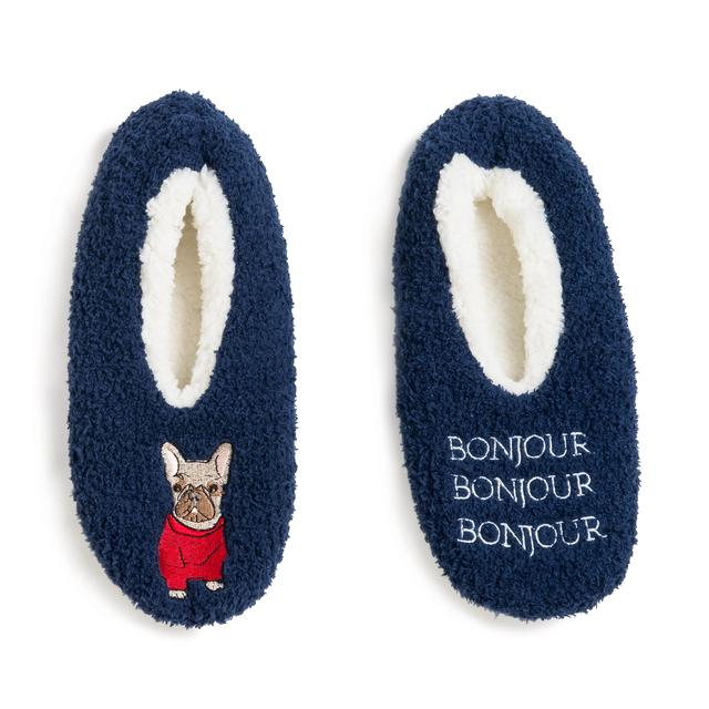58cab062e64c Wild Feet Ladies Frenchie Knitted Slippers